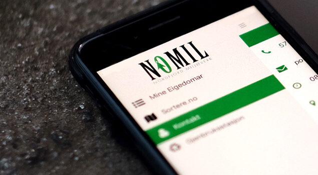 Nomil sin mobil-app er no tilgjengeleg for Kinn kommune