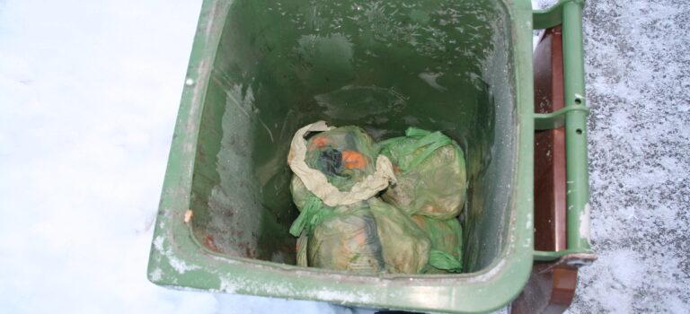 Fastfrose avfall i dunken?